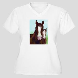Horses Women's Plus Size V-Neck T-Shirt