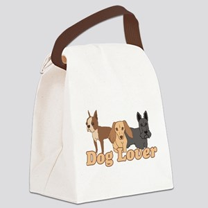Dog Lover Canvas Lunch Bag