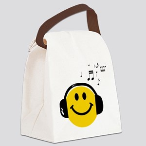Music Love Smiley Canvas Lunch Bag