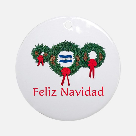 El Salvador Christmas 2 Ornament (Round)
