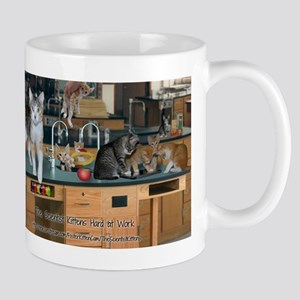 Scientist Kittens Hard At Work Mug