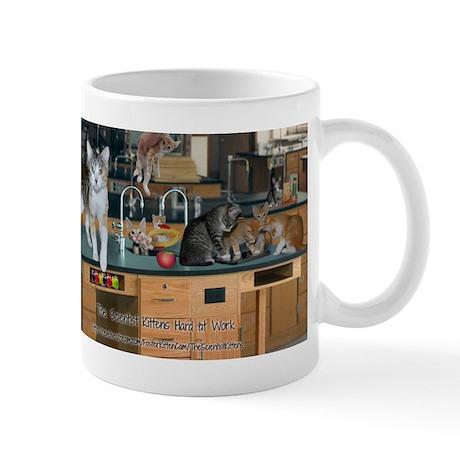 Scientist Kittens Hard At Work Mug