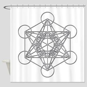 Metatrons Cube Shower Curtain