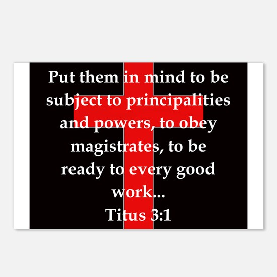 Titus 3:1 Postcards (Package of 8)