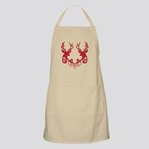 Christmas deer heads with ornaments Apron