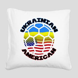 Ukrainian American Football Soccer Square Canvas P