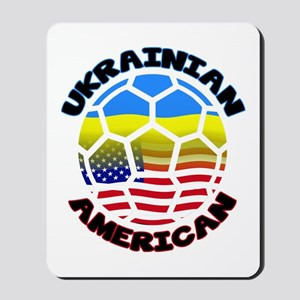 Ukrainian American Football Soccer Mousepad