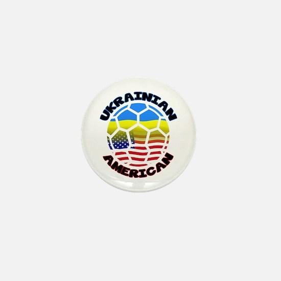 Ukrainian American Football Soccer Mini Button