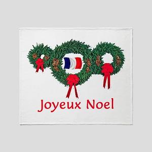 France Christmas 2 Throw Blanket