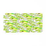 School of Mahi (Dorado, Dolphin) Fish Aluminum Lic