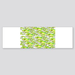 School of Mahi (Dorado, Dolphin) Fish Sticker (Bum