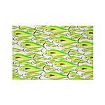 School of Mahi (Dorado, Dolphin) Fish Rectangle Ma