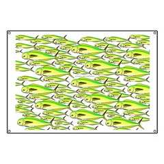 School of Mahi (Dorado, Dolphin) Fish Banner