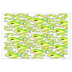 School of Mahi (Dorado, Dolphin) Fish Large Poster