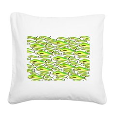 School of Mahi (Dorado, Dolphin) Fish Square Canva