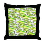 School of Mahi (Dorado, Dolphin) Fish Throw Pillow