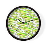 School of Mahi (Dorado, Dolphin) Fish Wall Clock