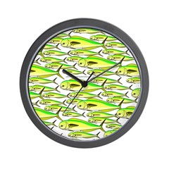 School of Mahi (Dorado, Dolphin) Fish Wall Clock