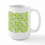 School of Mahi (Dorado, Dolphin) Fish Large Mug