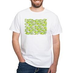 School of Mahi (Dorado, Dolphin) Fish White T-Shir