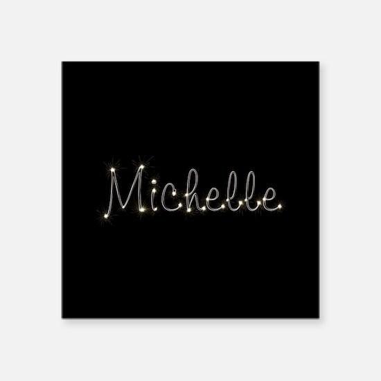 """Michelle Spark Square Sticker 3"""" x 3"""""""