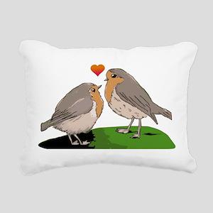 Robin red breast bird love Rectangular Canvas Pill
