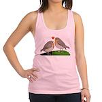 Robin red breast bird love Racerback Tank Top