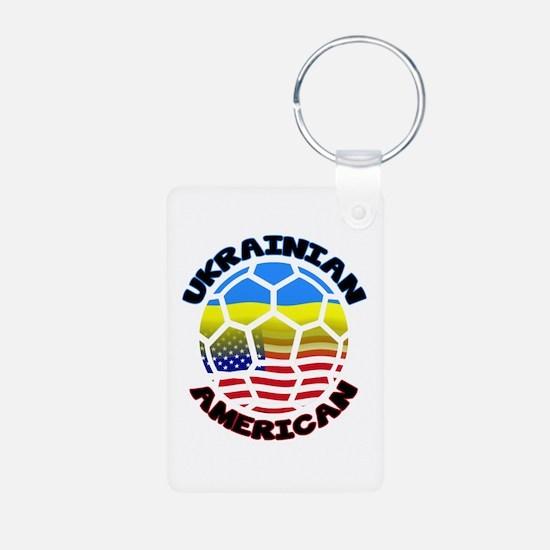 Ukrainian American Football Soccer Keychains