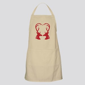 Christmas deers with heart shaped antlers Apron