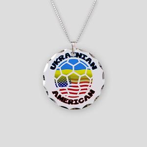 Ukrainian American Football Soccer Necklace Circle