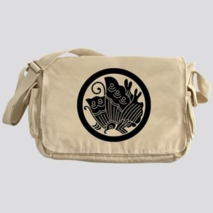 Ageha butterfly in circle Messenger Bag