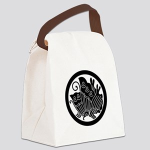 Ageha butterfly in circle Canvas Lunch Bag