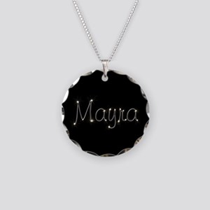 Mayra Spark Necklace Circle Charm