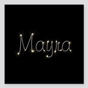 "Mayra Spark Square Car Magnet 3"" x 3"""