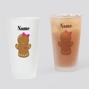 Personalized Gingerbread Girl Drinking Glass