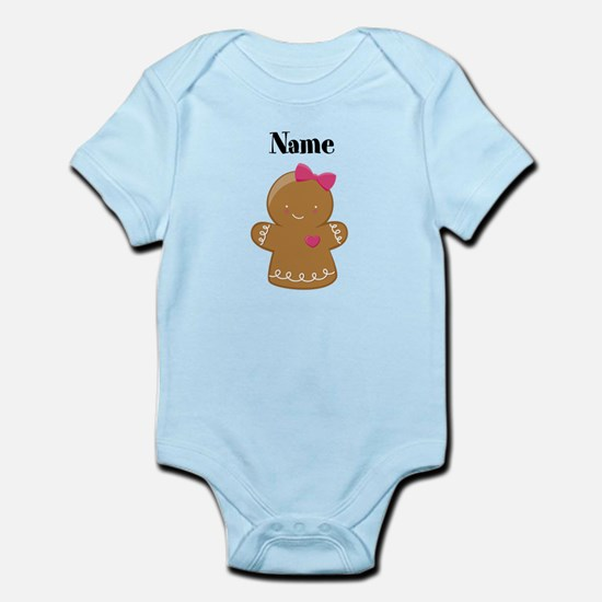 Personalized Gingerbread Girl Infant Bodysuit