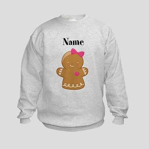 Personalized Gingerbread Girl Kids Sweatshirt