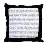 Gill's Titles Throw Pillow