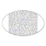 Gill's Titles Oval Sticker