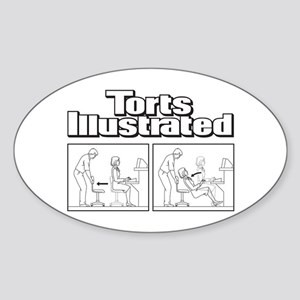 Torts Illustrated Sticker (Oval)