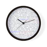 Gill's Titles Wall Clock