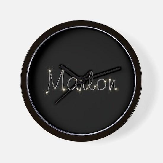 Marlon Spark Wall Clock