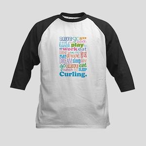 Curling Kids Baseball Jersey