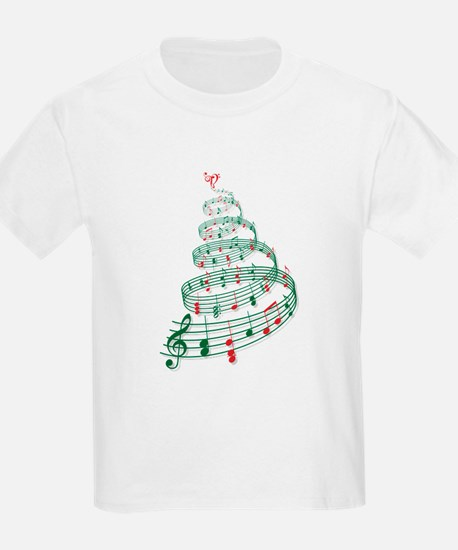 Christmas tree with music notes and heart T-Shirt