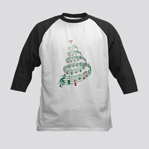 Christmas tree with music notes and heart Kids Bas