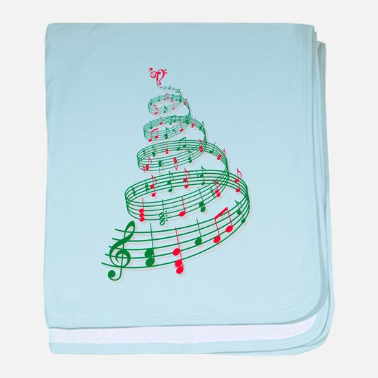 Christmas tree with music notes and heart baby bla