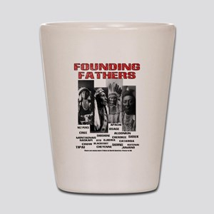 Native American, First Nations Founders Shot Glass