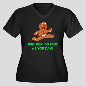 Run As Fast As You Can Women's Plus Size V-Neck Da