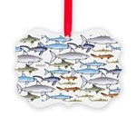 School of Sharks 1 Picture Ornament