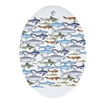 School of Sharks 1 Ornament (Oval)